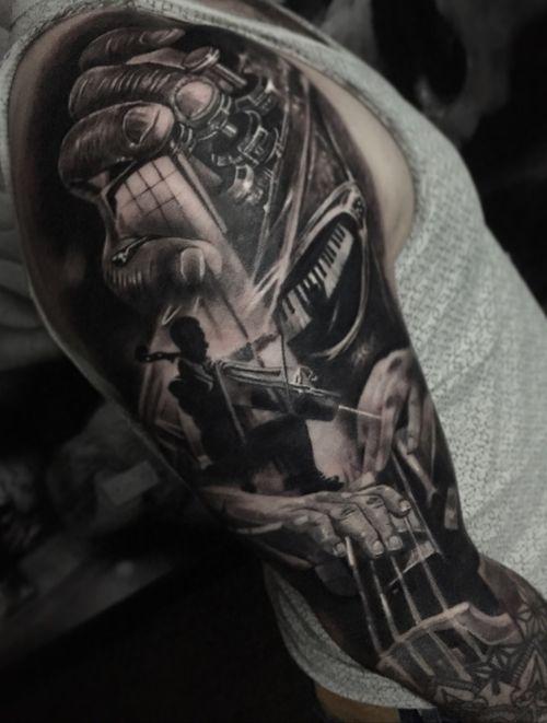 Jazz music #tattoo #tattoos #tattooartist #BishopRotary #BishopBrigade #BlackandGreytattoo #QuantumInk #ImmortalAlliance #SullenClothing #SullenArtCollective #Sullen #SullenFamily #TogetherWeRise #ArronRaw #RawTattoo #TattooLand #InkedMag #Inksav#BlackandGraytattoo #tattoodoapp #tattoodo #music