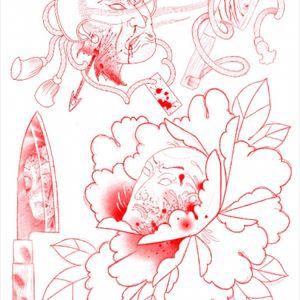 #namakubi #peony #JapaneseTattoos #irezumi #tattooart #tattooflash #tattoodesigns #fudoshintattoos
