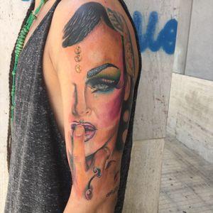 #dragqueen #tattoo #tattoos #ink #tattooitalia #pirr #realistictattoo #colortattoo