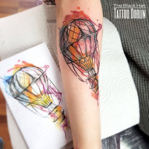 We are lucky to have a huge range of talented artist in town and we are proud that the best of them choose to join The Black Hat Team either as permanent tattoo artist or guest tattoo artist. . Amazing custom design done by Maël . #tattoodublin #tats #dublin #tattooartist #tattoo #tattooist #watercolortattoo #colortattoo