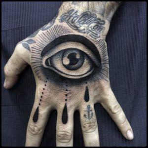 #black #eye #tears #tattoo #blackwork #totemica #ontheroad