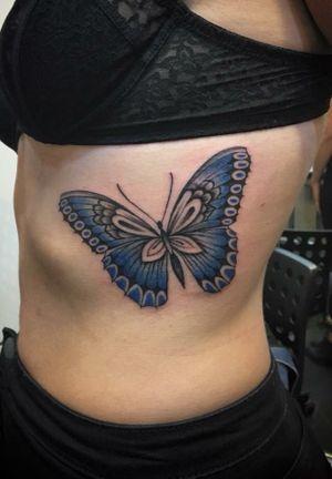 Butterfly by tattoo artist Silvia Akuma