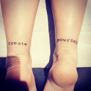 #createyourself #writingtattoo