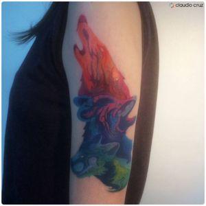 Tattoo - 30/11/2016 - #art #artwork #draw #drawing #design #desenho #ink #inked #paint #painting #tattooed #tattooing #tattooist #instatattoo #handcrafted #handmade #graphics #colors #wolftattoo #coveruptattoo #013 #nofilter #tattoodo #claudiocruz #progress