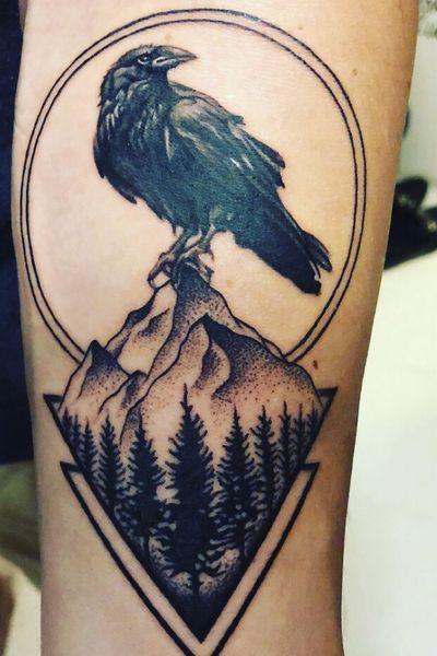 Raven on mountain #raven #mountain
