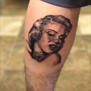 #MarilynMonroe #Portrait #blackandgrey