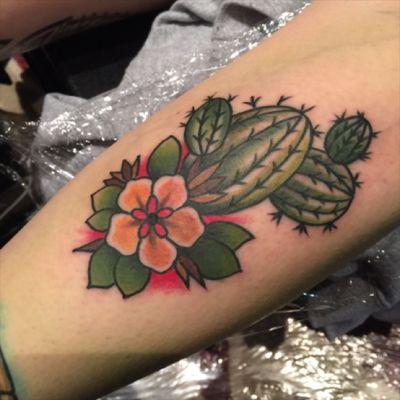 #cactus i got at #hellcity tattoo convention in Columbus, Ohio. By @williamvantattoos