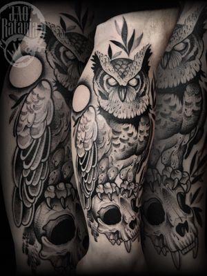 Feita hj, valeu pela confiança! #rataria #tattoo #blackwork #blackworkers #blackworkerssubmission #ttblackink #onlyblackart #theblackmasters #tattooartwork #inkstinct #inkstinctsubmission #superbtattoos #wiilsubmission #stabmegod #tattoos_artwork #owltattoo #owl #corujatattoo #tatuagemcoruja