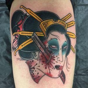Geisha namakubi! #geisha #namakubi #fudoshintattoos #london #lovehatesocialclub #tattoo #japanestattoo