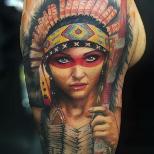 #girl #headdress #indian