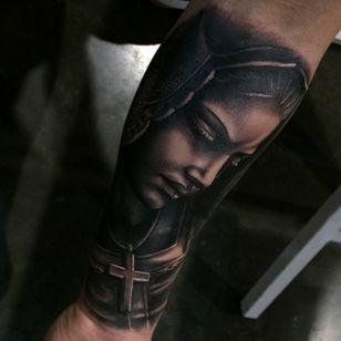 Primer tattoo show 2015 ( argentina)@largavidatrece@tattooshow@mandinga@kwadron. Gracias Enri por todo y gracias tambien a @radiantcolorsink por tu compañia compañero#tattoo #tattoos #tatuage #tattooshow#argentina #convencion #realismo#virgen#virgin#spain #valencia #jumilla #largavidatrece#