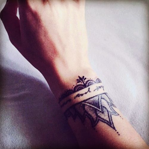 #mandala #quote #script #bracelet #wristtattoo
