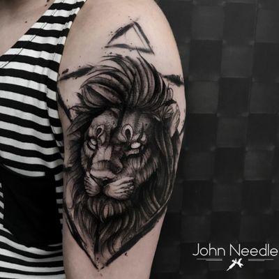 John Needle 🇧🇷 #leao #lion #blackwork