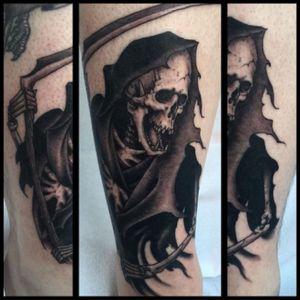 By #JustinWeatherholtz #Reaper #kingsavetattoo #kingsavenue