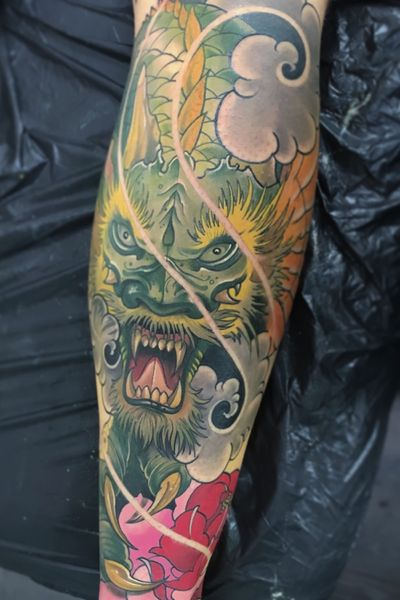 Dragon:) #dragon #irezumi #japanese #peony #tattoodo #wearesorrymom