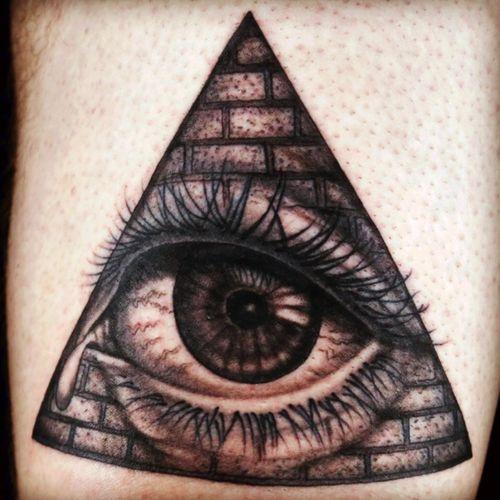 Tattoo by Matt O'Baugh, design by Chris Blinston.  Done during a tattoo marathon on Spike TVs #inkmaster