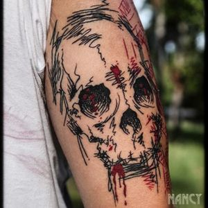 #sketch #skulls #skulltattoo #tatuadoresmexicanos #tatuadorasmexicanas #blackink #nancyabraham #thebestspaintattooartists #sketchytattoo