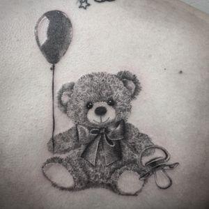 #tattoo #teddybear #teddybeartattoo #lespetitspointsdefanny