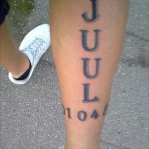 My first tattoo ever. Last name and date of birth #dateofbirth #lastname #leg #lowerleg #april #denmark #danmark