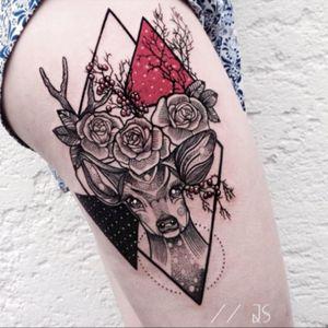 Unique deer tattoo #deer
