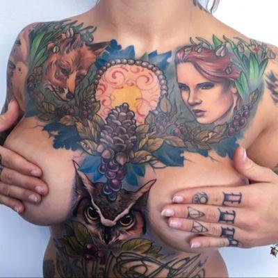 All but owl is healed:) #nature #berries #owl #fox #tattoodo #wearesorrymom #inkjecta #killerinktattoo