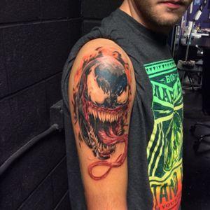 Venom tattoo by Frank Miller #venom #tattoo #comicbook #art #frankmiller #spiderman #empireink