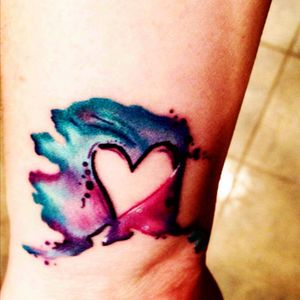 Now this watercolor is what i like! #watercolor #heart