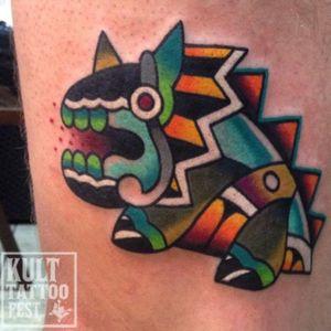 #lizard in #color  by #tattooartist #ktattooing @ktattooing #kulttattoofestival