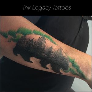 Wilderness!! 🌲 #tattoo #wilderness #forearmtattoo #legendrotary #thesolidink #ink #inklegacytattoos