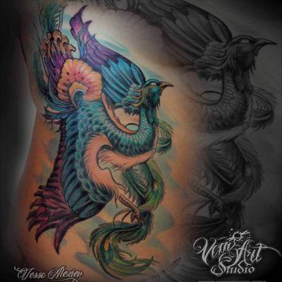 #peacock #girltattoo #tattoodo #colourtattoo #colour