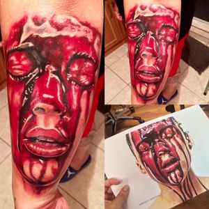 #tattoo #gore #khantattoo #inspiration #InspiredTattooPortraits #redink #inked #inkedforlife #handtattoo #cheyenehawk