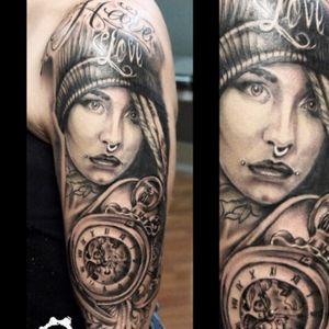 Tatuaggio chicano #tatt #tattoo #tatuaggio #portrait #fishball_suicide