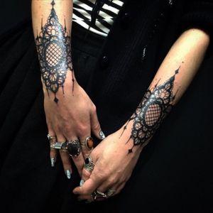 Love #mandala #lace #linework #wristtattoo