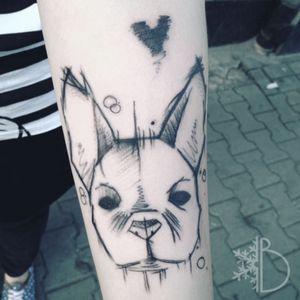#dogtattoo #sketchtattoos #tattoo #blxckink #polandtattoo