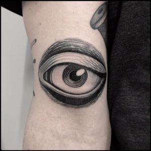 #black #human #eye #tattoo #blackwork #totemica #ontheroad
