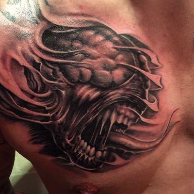 Artist: Floyd Varesi #monster #residentevil #zombie #floydvaresi #varrystattoo
