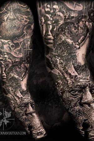 Black and grey 'Northen depression' sleeve #jamesbrennan