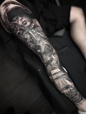 Pirate leg sleeve #tattoo #tattoos #tattooartist #BishopRotary #BishopBrigade #BlackandGreytattoo #QuantumInk #ImmortalAlliance #SullenClothing #SullenArtCollective #Sullen #SullenFamily #TogetherWeRise #ArronRaw #RawTattoo #TattooLand #InkedMag #Inksav#BlackandGraytattoo #tattoodoapp #tattoodo