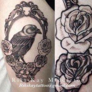 Beautiful Raven tattoo #Raven #Rose