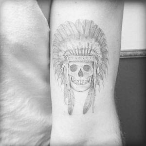 Indian skull by East. #fineline #indian #skull #east #mandala