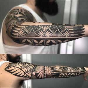 #sleeve #sleevetattoo #dotwork #blackwork #geometric #ornamental #blackandgrey