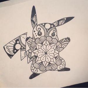 Pikachu mandala I designed today #pokemon #pokemongo #mandala #tattooartist #tattooapprentice #tattoo #ink #tattooart #eastsidetattoo #eastside
