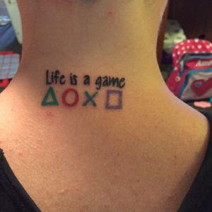 #lifeisagame #playstation #gamertattoo