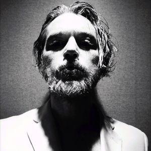 Black n White painting portrait #selfie #selfportrait #bw #beard #me #bodypainting #mv #art #portait