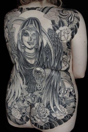 Lady grimreaper backpiece