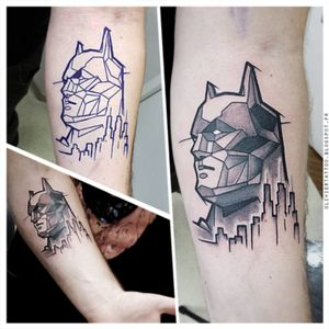 https://www.askideas.com/black-geometric-world-map-tattoo-on-forearm/