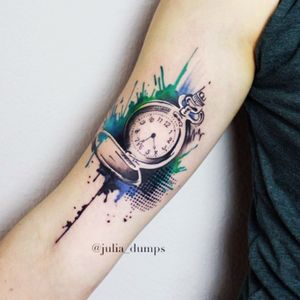 #juliadumps #clock #watercolor