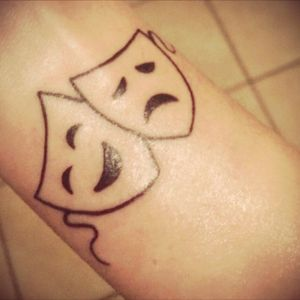1st tatoo.🎭 #tatoo #theatre #inked