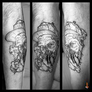 Nº123 Undead Ink #tattoo #zombie #cap #tattooer #tattoomachine #undead #sullenartcollective #skull #beard #bylazlodasilva