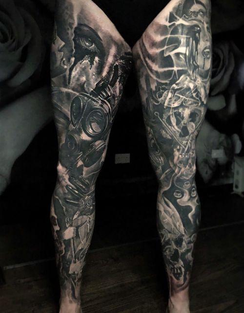 Both legs complete #tattoo #tattoos #tattooartist #BishopRotary #BishopBrigade #BlackandGreytattoo #QuantumInk #ImmortalAlliance #SullenClothing #SullenArtCollective #Sullen #SullenFamily #TogetherWeRise #ArronRaw #RawTattoo #TattooLand #InkedMag #Inksav#BlackandGraytattoo #tattoodoapp #tattoodo